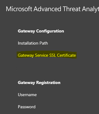 Gateway Service SSL Certificate requirements for MS ATA