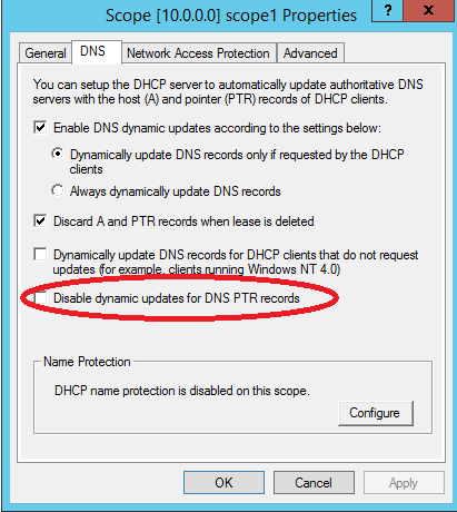 Windows 2008 dhcp server not updating dns