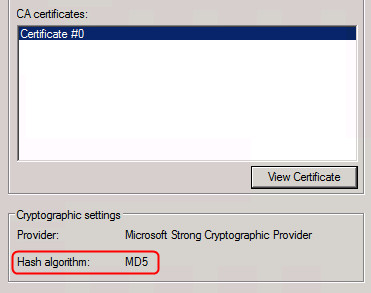 Is it possible to change the hash algorithm when I renew the Root CA