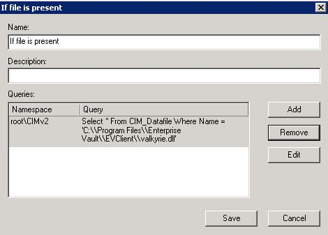 How to make WMI-filter that looks for a registry-key or file