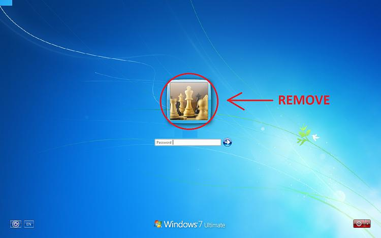 Remove User Account Portrait and Fram from logon screen in Windows 7.