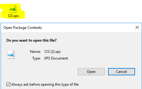 insert xps into word