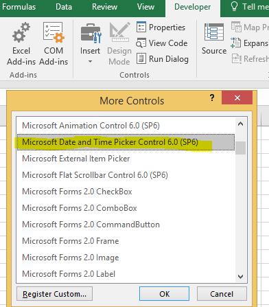 excel 2010 64 bit calendar control