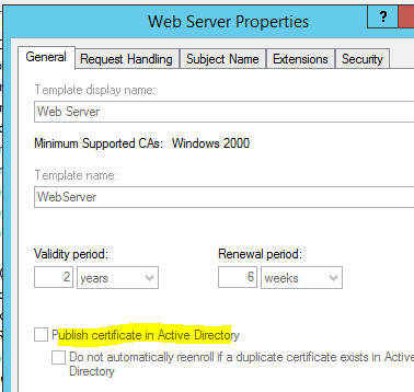 Web server certificate template not available images certificate why cant we publish default template web server in win 2012r2 also i see this option yadclub Image collections