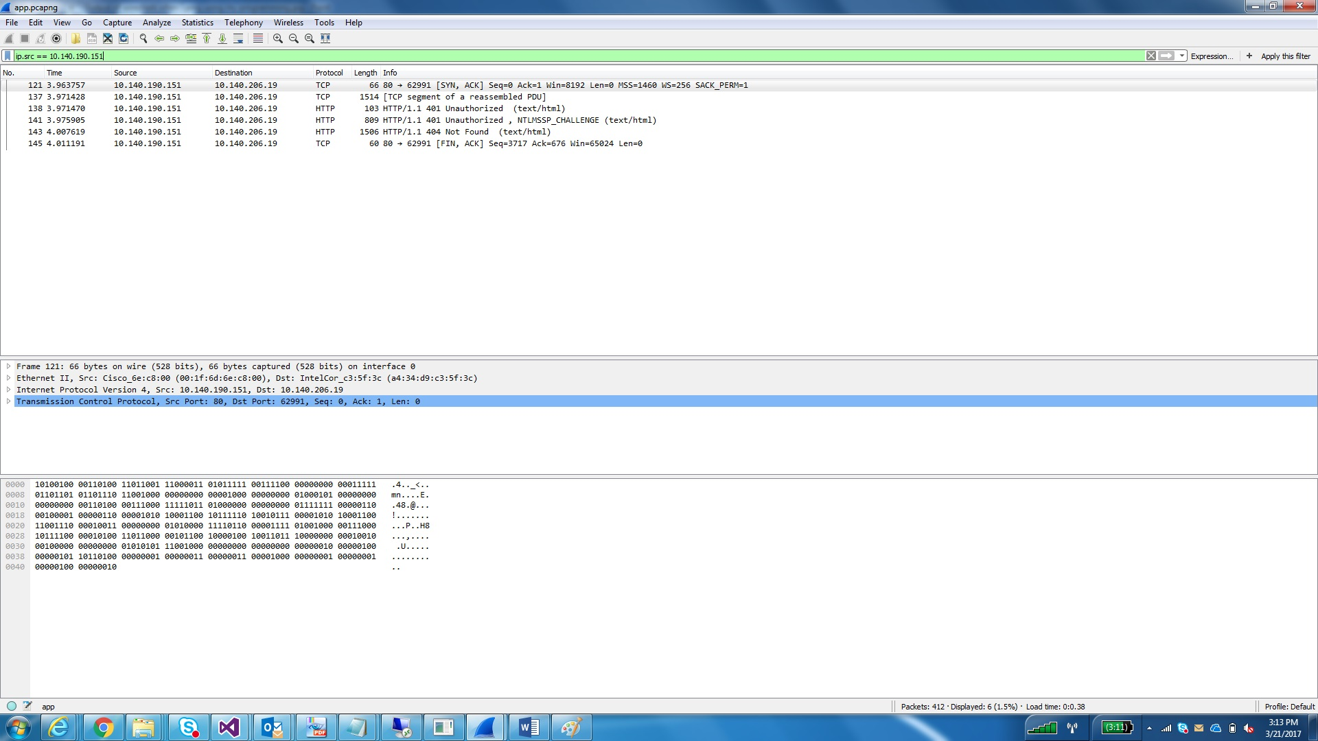 Output of wireshark when I ping using my program