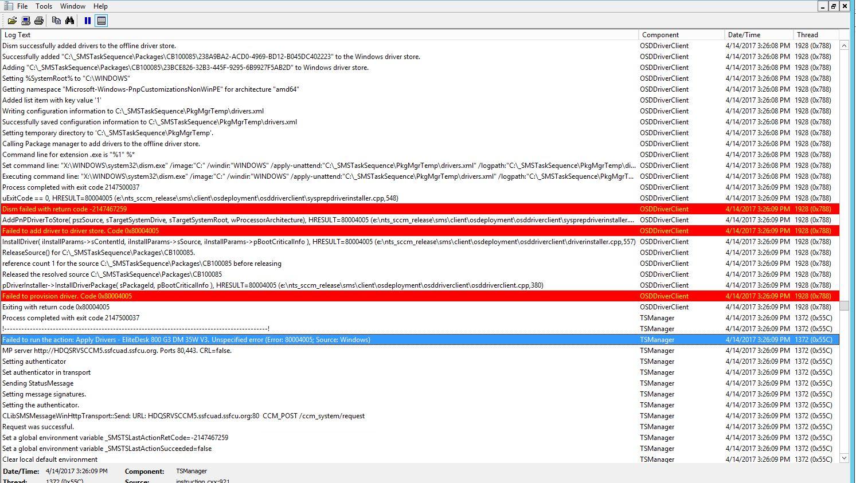 OSD fails on HP EliteDesk 800 G3 DM 35W - Windows 7 x64
