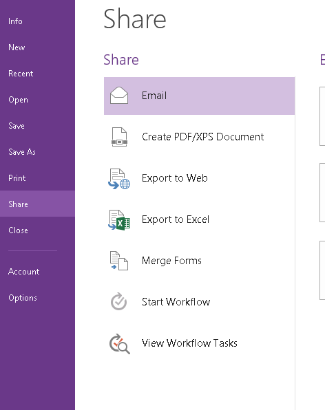 Export InfoPath form to Word/Excel hosted in SharePoint