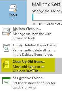Outlook 2016 - Archive Error - \
