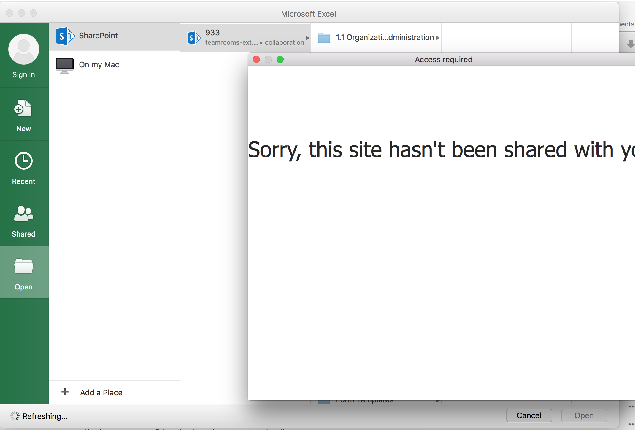 Saving Office documents to Sharepoint Online from Mac OS X