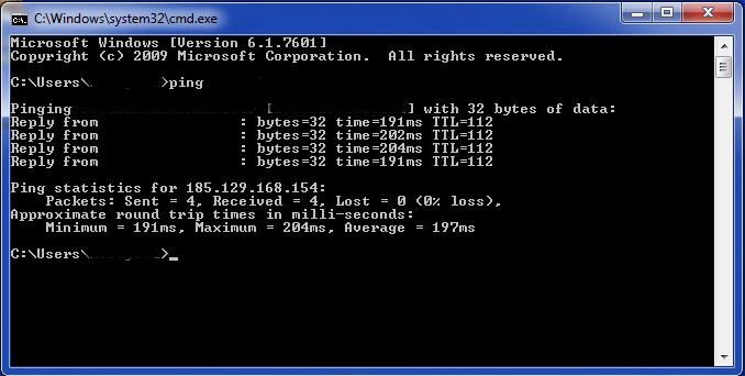 Windows vpn ping