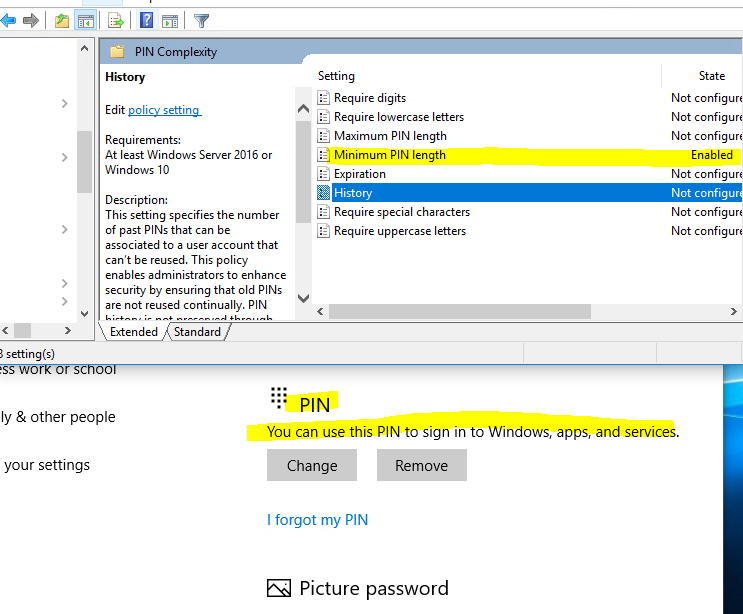 windows 10 remove password and pin