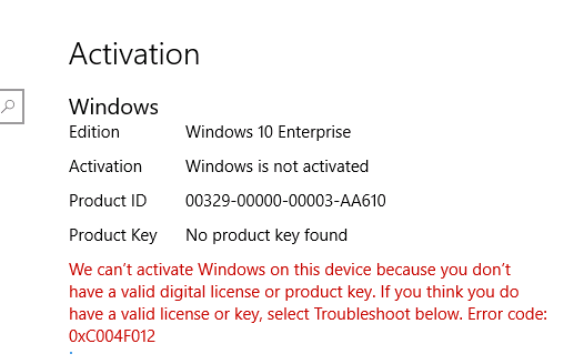 Windows 10 build 1703 enterprise is not activated after sysprep and saw windows license not activated manually input the technet windows 10 enterprise key in will activate it but i want to activate it automatically ccuart Image collections