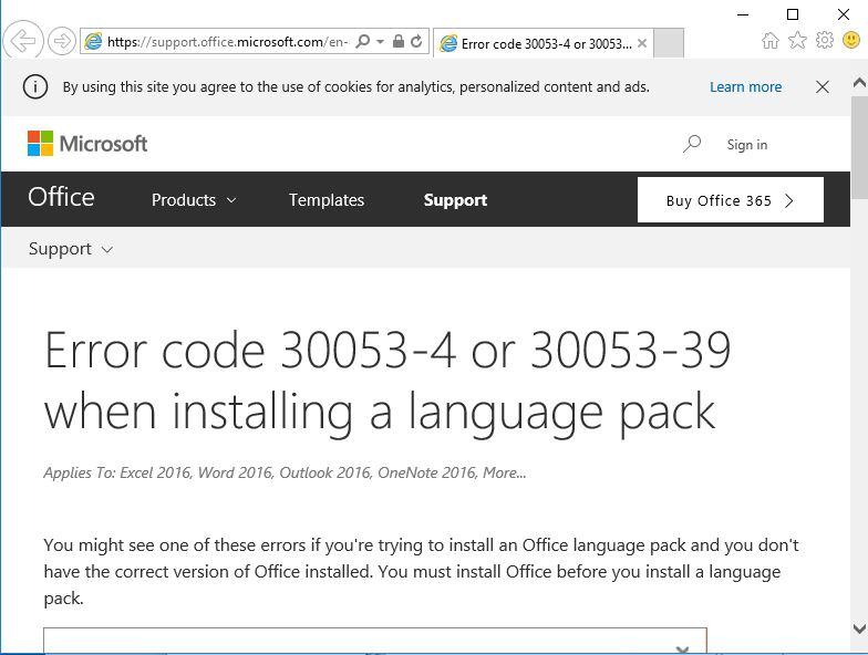 Office 365 Deployment in 1702