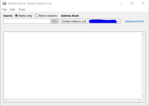 Outlook Address Book Empty After Migrating From Exchange  To