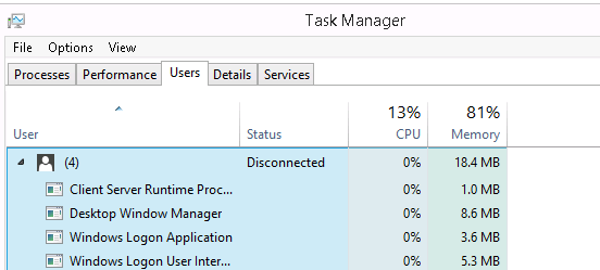 Kill User in Task Manager
