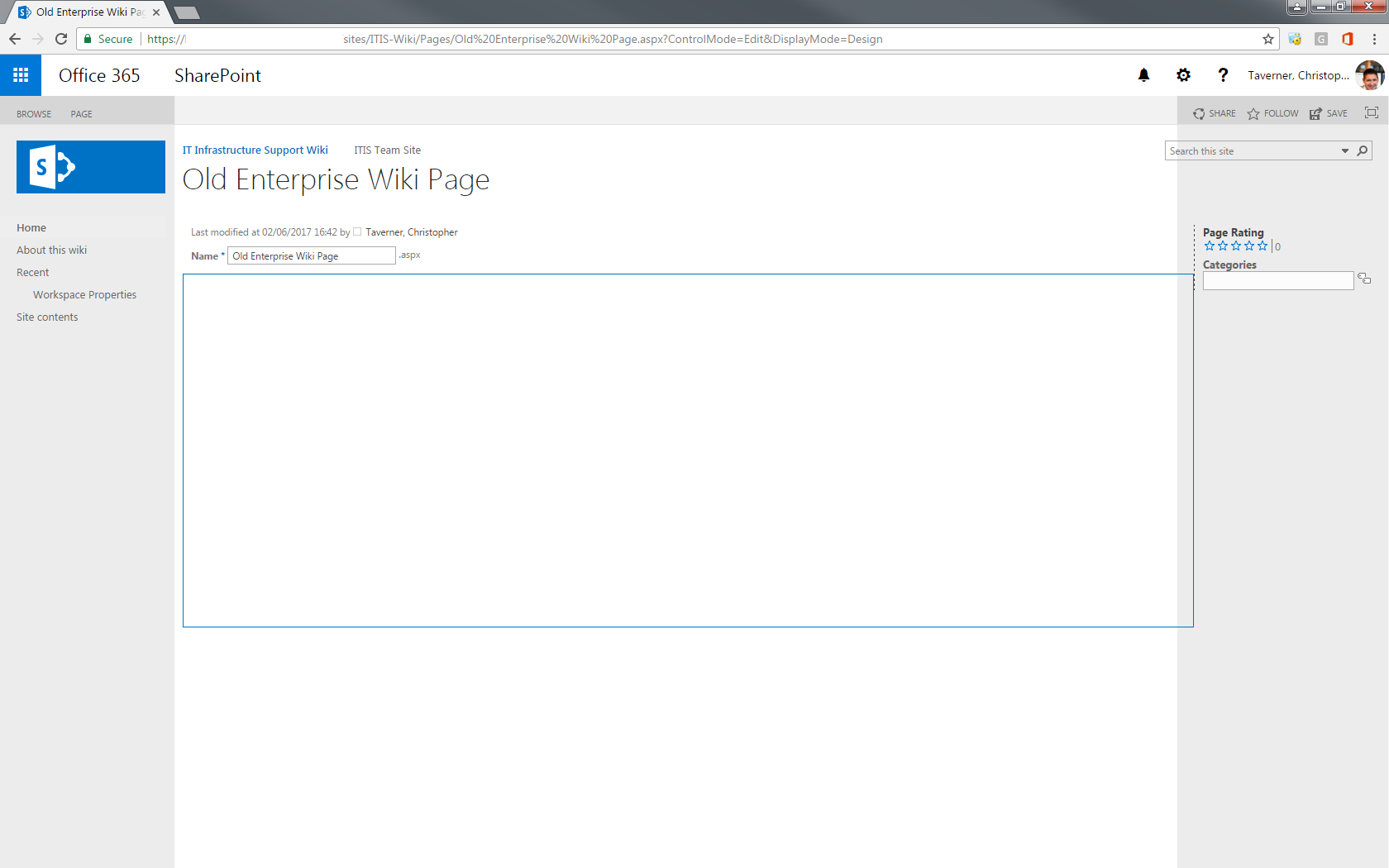 Sharepoint online clone of enterprise wiki page layout mis my new page layout based on an enterprise wiki page layout doesnt look so good 1betcityfo Image collections