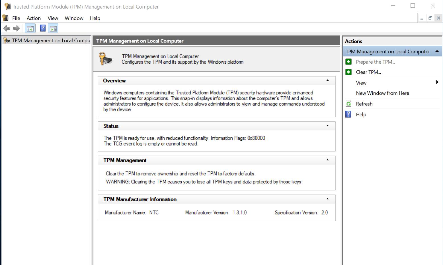 Windows 10 Bitlocker encryption & Dell Latitude 7480's