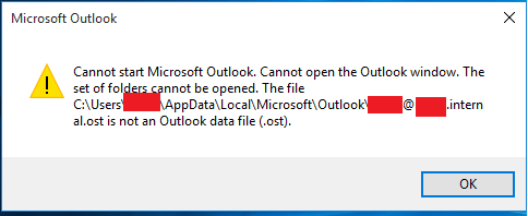 outlook 2017 not opening