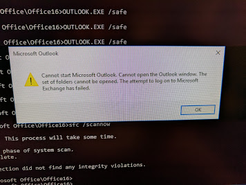 Outlook 2016 not opening on Windows 10 Enterprise connecting