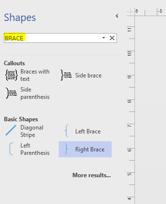 if it is not listed in your side please try to search shapes in visio 2013 to have a try - Visio Bracket Shape