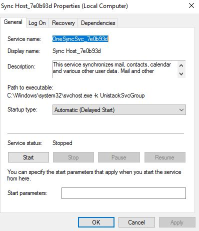 Server 2016 Services not starting