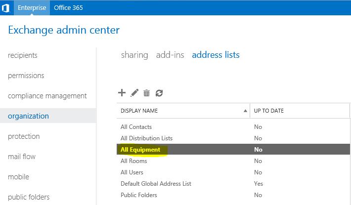 offline global address list not updating