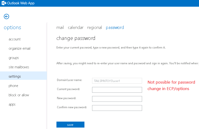 how to change outlook 2013 password when expired