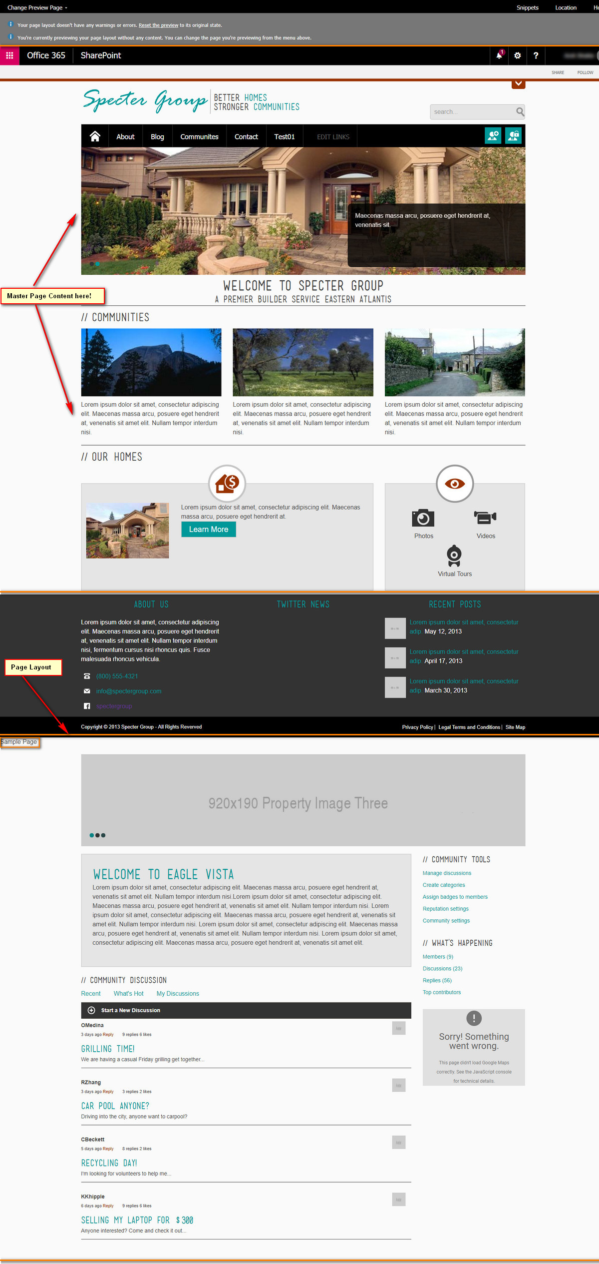 Issue with creating custom Page Layout using Design Manager in ...