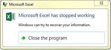 Excel 2016 64-bit Crashes (Seems to be caused by Macros)