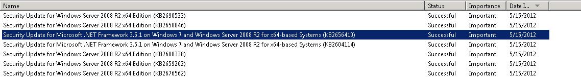 Security updates to server