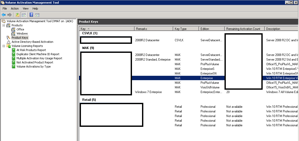 windows 7 pro / enterprise online activation mak key