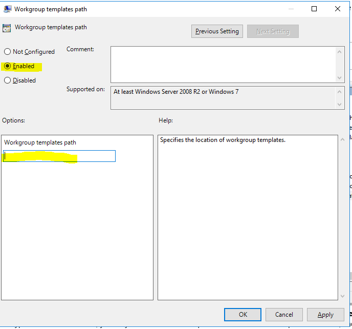 How to add a custom powerpoint template across corporate pcs so then configure the group policy setting via users configurationadministrative templatesmicrosoft office 2016shared pathsworkgroup template path toneelgroepblik