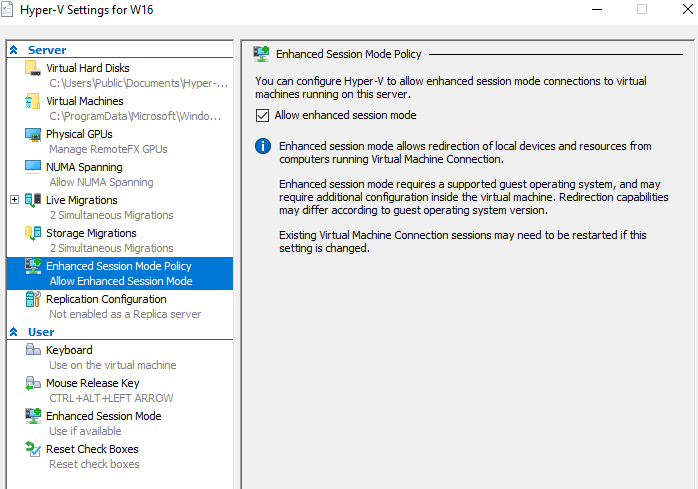 How to setup files and folders sharing between Hyper-V host and