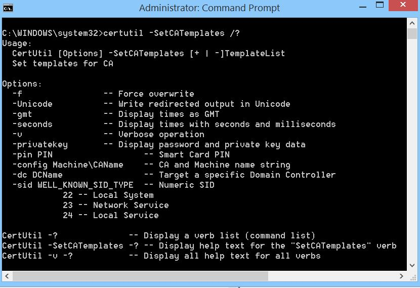 Command line to add certificate to issue you might look into the setcatemplates command in certutilexe yadclub Image collections