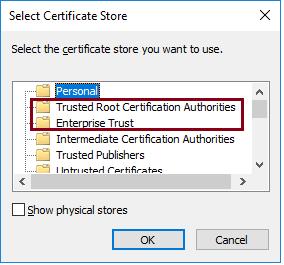 Windows Cert. Trust - Trusted Root Certification Authorities vs