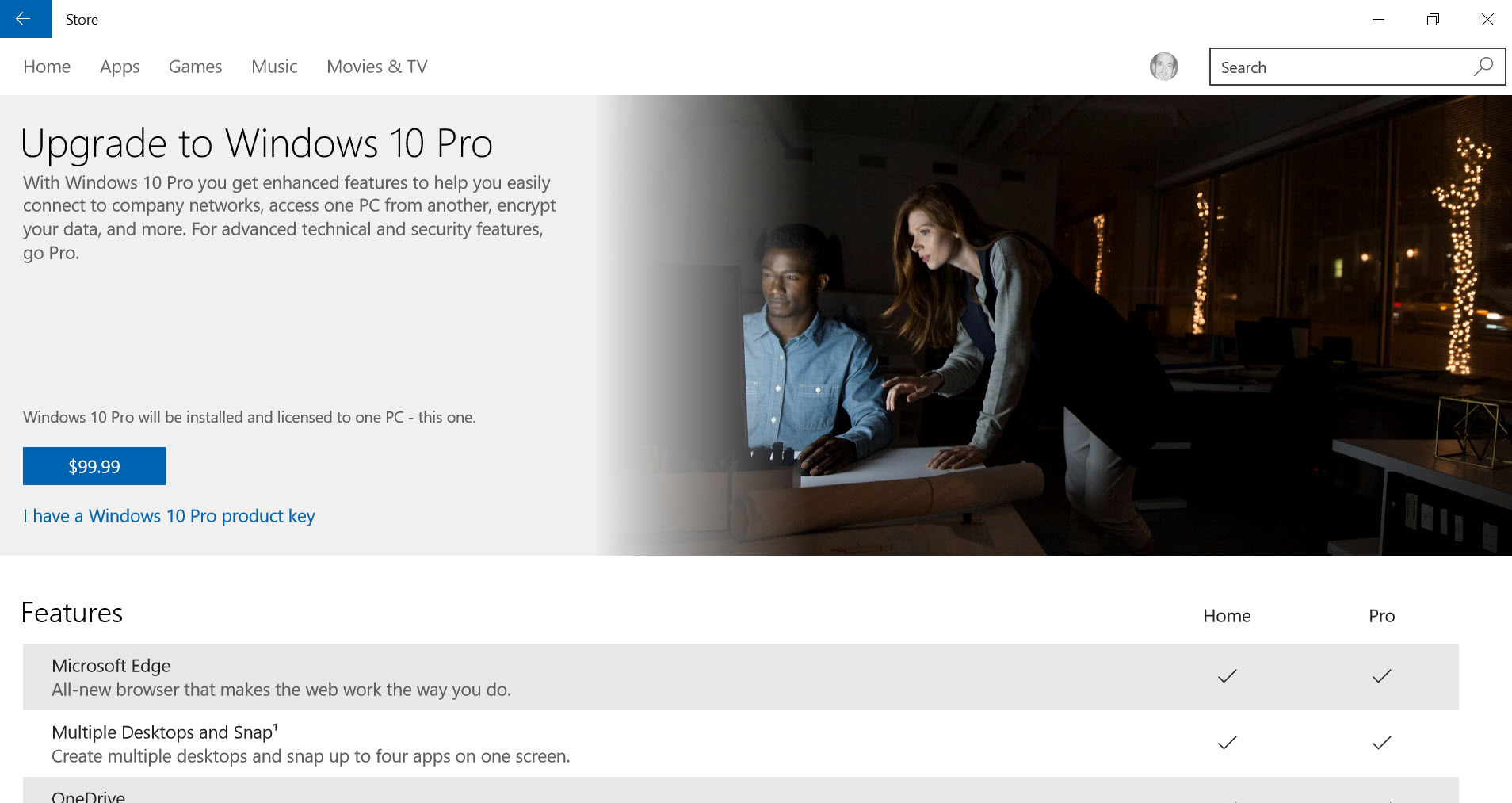 upgrade to windows 10 pro from windows 10 home