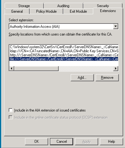 Active Directory Certificate Services did not start -CA