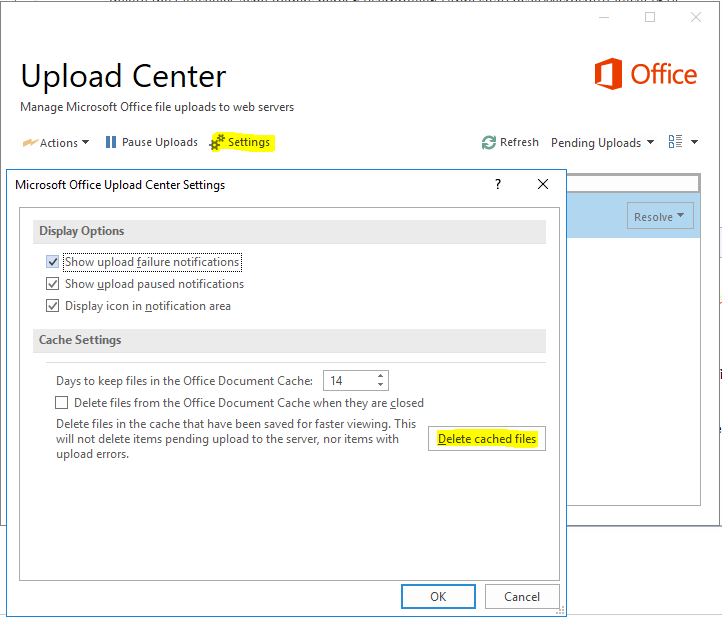 The Microsoft Upload Center found a problem while accessing