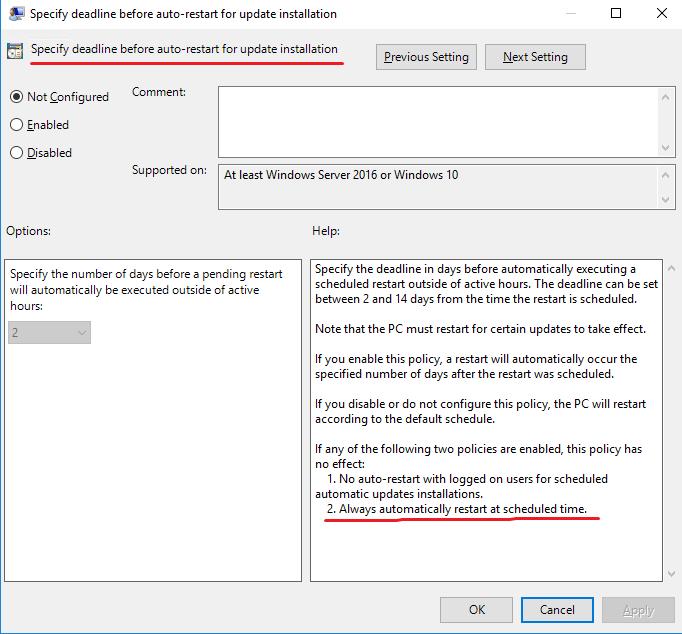 Windows Update Reboot Message via a GPO