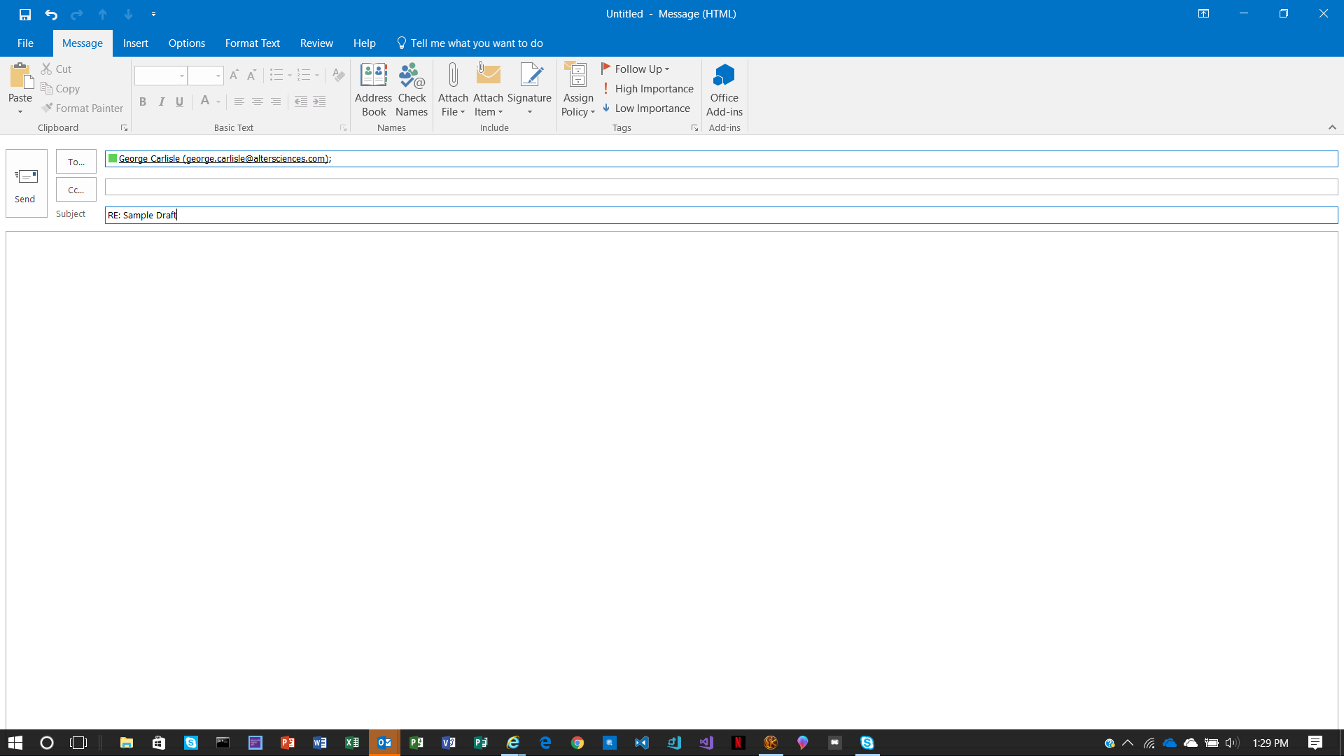 Outlook 2016 will not save drafts