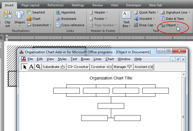 How to insert organization chart in word