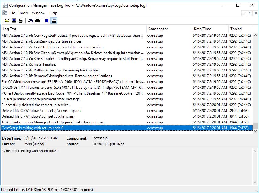 Problem pushing SCCM client