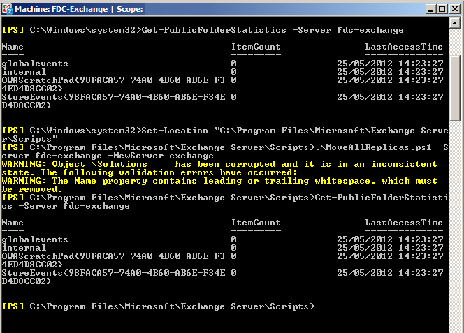 Unable To Remove Exchange 2007 Public Folder Database Using