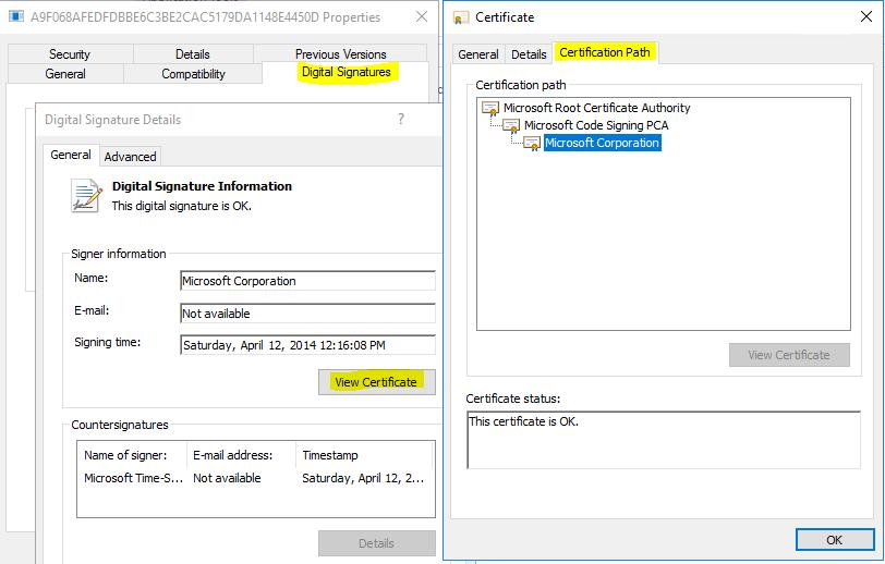 Microsoft Code Signing Pca Certificate