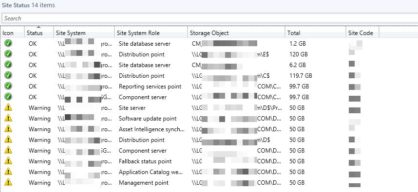 What are the possible Reason SCCM client showing status Inactive