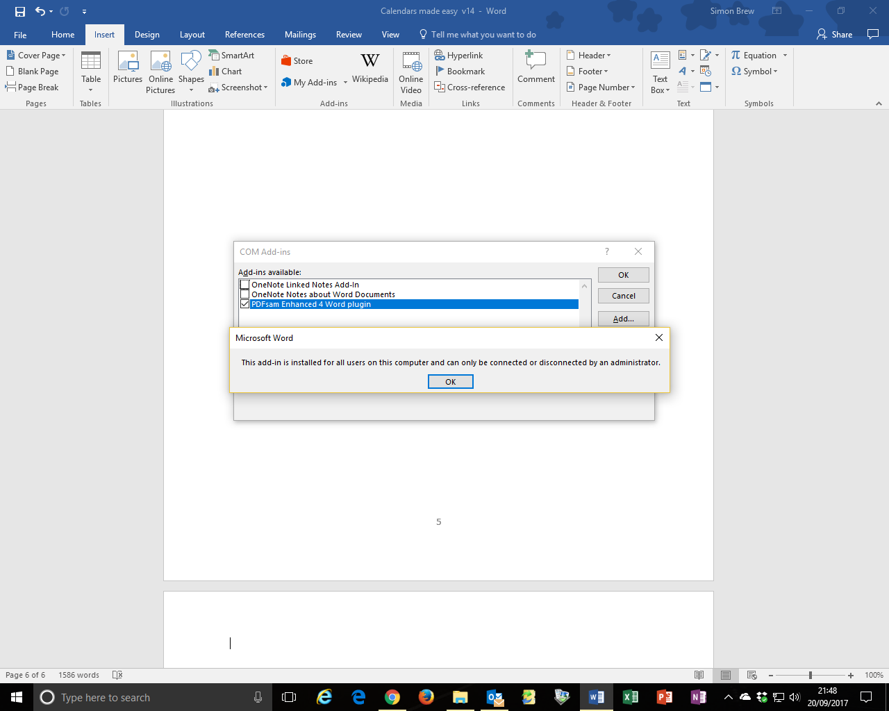 Word 2016 remove add ins requires administrator i am administrator attempt to remove unwanted add in xflitez Gallery