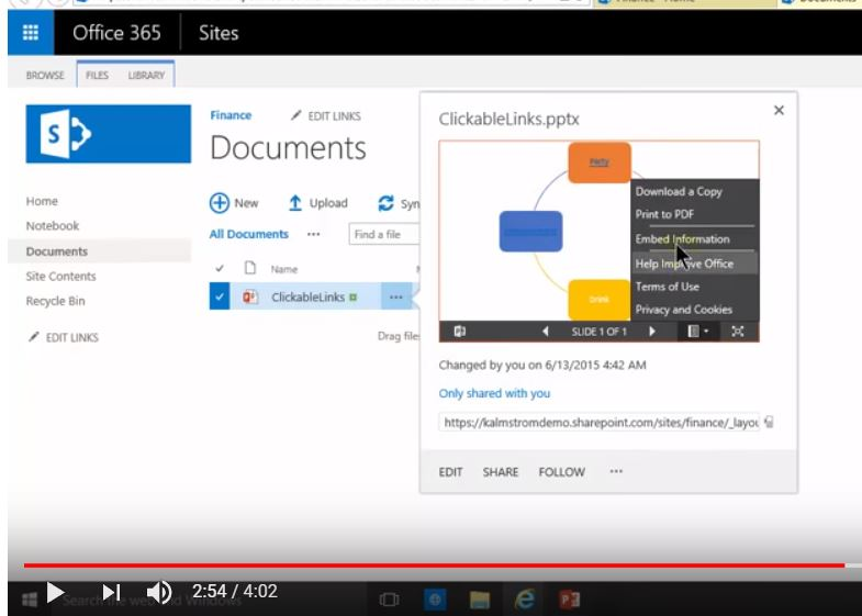Embedded Powerpoint in SharePoint
