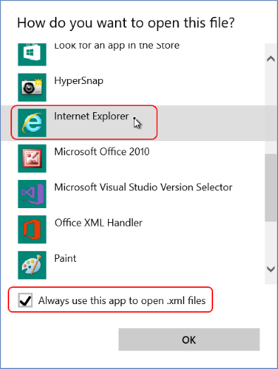 Unable To Open Xml Files In Ie11 After Office 2016 Install