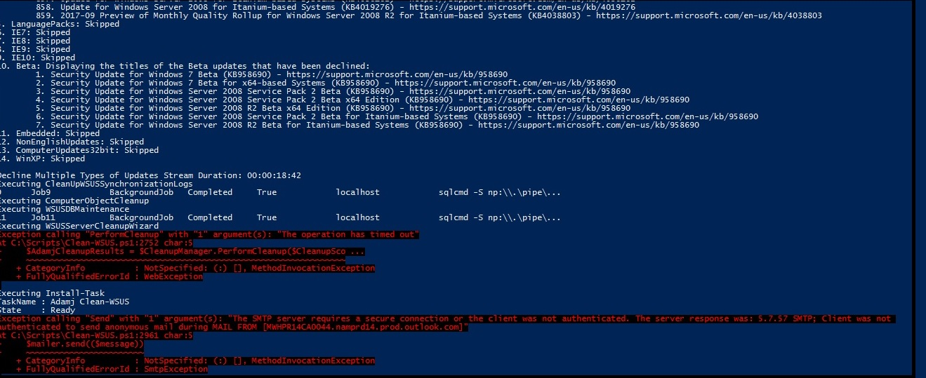 WSUS : Windows 7 client machines are showing not yet reported status