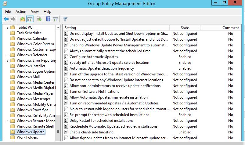 WSUS GPO not applying on Windows 8, Windows 10 PCs & Windows 2012 r2